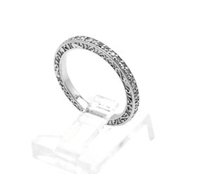 14K White Gold Diamond Wedding Band 11006153