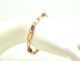 14K Rose Gold 0.72ctw Diamond Link Bracelet 21000686