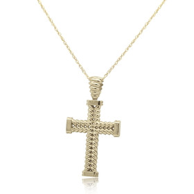 14K White Gold Cross Fancy Charm 50003509