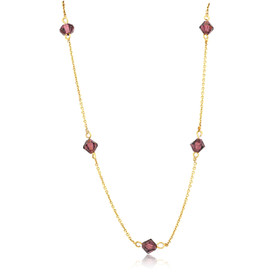 14K Yellow Gold Synthetic Amethyst by the Yard Necklace 30003293