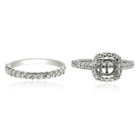 14K White Gold Fancy Diamond Engagement Ring Sets 11006170