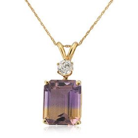 14K Yellow Gold Ametrine & CZ Pendant 52002013