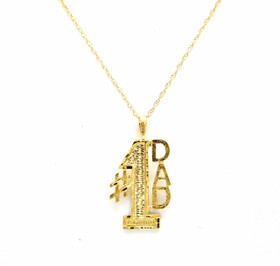 14K Yellow Gold Father's Day #1 Dad Charm 50003176