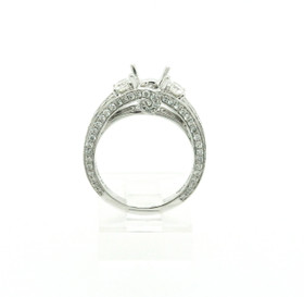 18k White Gold Diamond Engagement Ring 4 Prong Setting