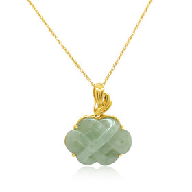14K Yellow Gold Jade Mystic Knot Pendant 52002049