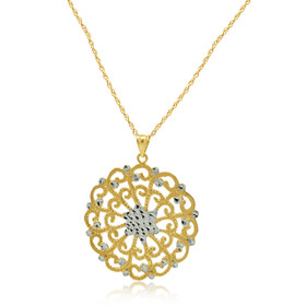 14K Two Toned Gold Sun Burst Charm 50003526