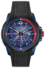 Citizen Men's Eco Drive Marvel Spider-Man Black Silicone Strap Watch AW1156-01W