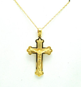 14K Yellow Gold Crucifix Cross Charm 50003532