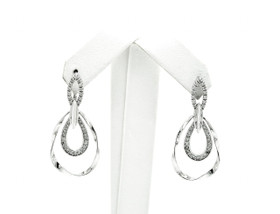 14K White Gold Diamond Dangle Earrings 41002294
