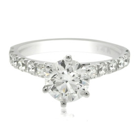 14k White Gold 1.Carat GIA Certified Diamond Engagement Ring -R