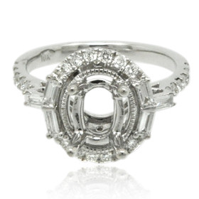 14K White Gold 0.52 ct Diamond Engagement Ring Setting 11006187