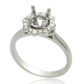14K White Gold Diamond Engagement Ring Setting 11006188