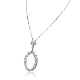 14K White Gold Fancy Diamond Necklace 31000917