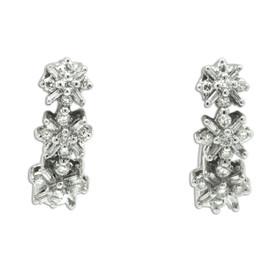 14K White Gold White Diamond Huggie Earrings 41002271
