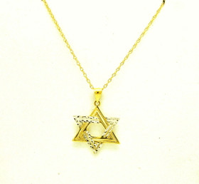 14K Two Tone Gold Star of David Charm 50003547