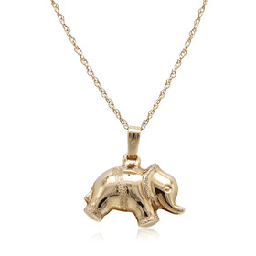 14K Yellow Gold Elephant Charm 52002005