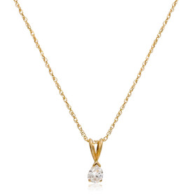 14K Yellow Gold Pear Cut Diamond Pendant 51001904