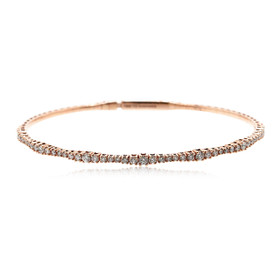 14K Rose Gold Flexible Diamond Bangle 44301