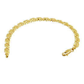 14K Yellow Gold Elephant Bracelet 20001660