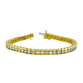 14K Yellow Gold Diamond Tennis Bracelet 21000690