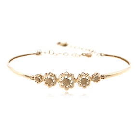 14K Yellow Gold Flower Adjustable Bracelet 20001628