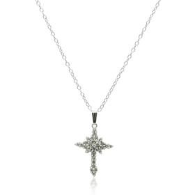 14K White Gold Diamond Cross Charm  51001922