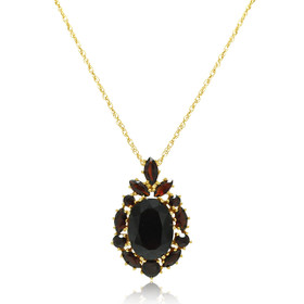 10K Yellow Gold Garnet Pendant