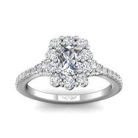14K White Gold GIA Certified Diamond Engagement Ring 11006213