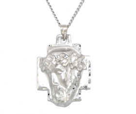 14K White Gold Christ Head Charm 50003567