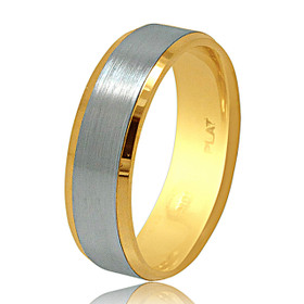 Platinum and 18K Yellow Gold Wedding Band 10017482