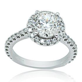 GIA Certified Diamond 14k White Gold Engagement Ring 11005689-R