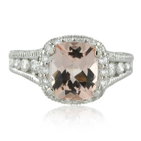 14K White Gold Diamond/Morganite Ring 11005312