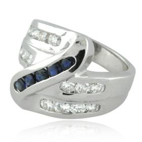 14K White Gold Diamond/Sapphire Ring 12002806