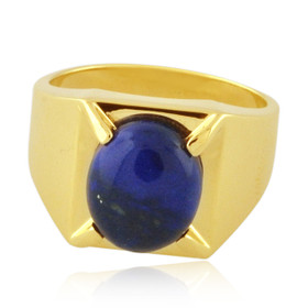 14K Yellow Gold Mens Lapis Ring 12002803