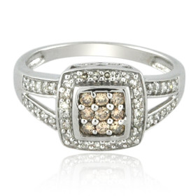 10K White Gold Brown and White Diamond Ring 11006227