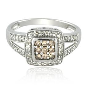 10K White Gold Brown and White Diamond Ring 11006227