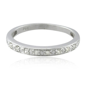 10K White Gold Diamond Wedding Band 11006225