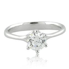 14K White Gold Diamond Engagement Ring 11005860