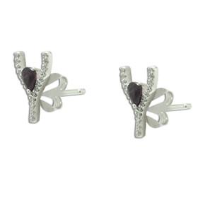 14K White Gold Stud Earrings 42003040