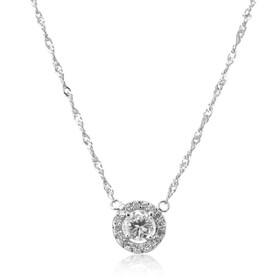 14K White Gold Diamond Halo Pendant 51001932