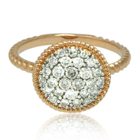 14K Rose Gold Diamond Cluster Ring 11006207