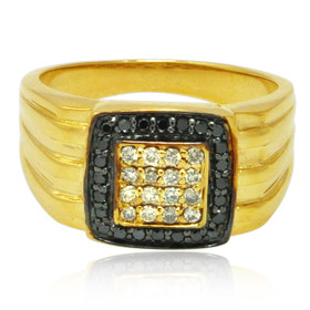 10K Yellow Gold Diamond Men's Ring 11006208