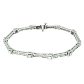 14K White Gold Diamond Fancy Bracelet 21000705