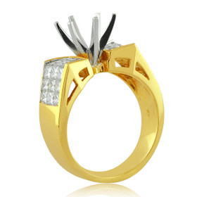 18K Gold Diamond Setting Engagement Ring 11001089 -R