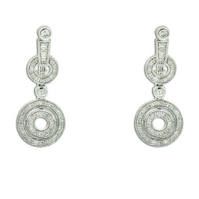 14K White Gold Diamond Drop Earrings 41002286