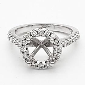14K White Gold Diamond Engagement Ring Setting 11006309