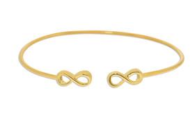 10K White Gold Fancy Infinity Cuff Bracelet 29000122