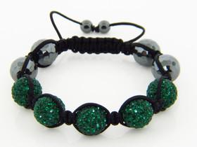 Shamballa Green Swarovski Crystal Bracelet