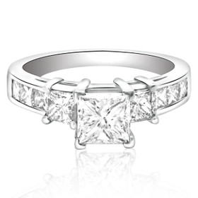 14K White Gold 1.0ct Diamond Engagement Ring