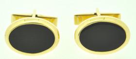 14K Yellow Gold Cufflinks with Onyx 88800025